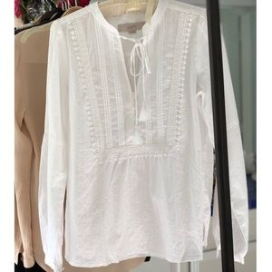 LOFT Cotton Boho Blouse XS